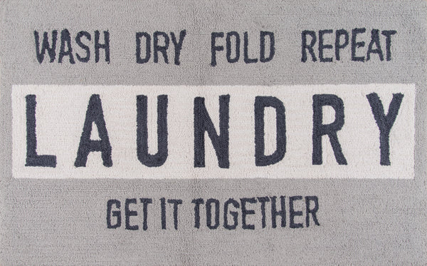 Hand Hooked Laundry Indoor Rug