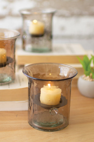 Mini Smoked Votive Cylinder