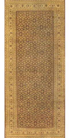 Hand-Knotted Indian Agra Antique Area Rug