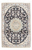 Hand-Knotted Persian Nain Silk Area Rug