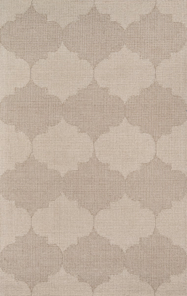 Contemporary Hand Tufted Beige Rug