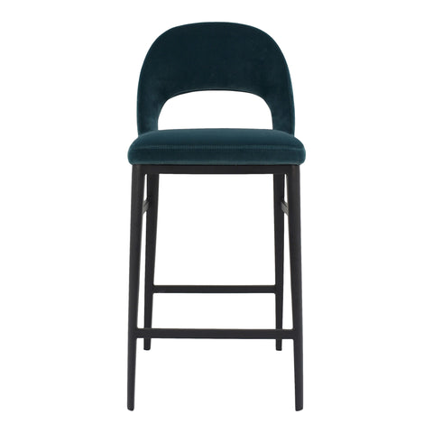 Roger Counter Stool Teal Velvet