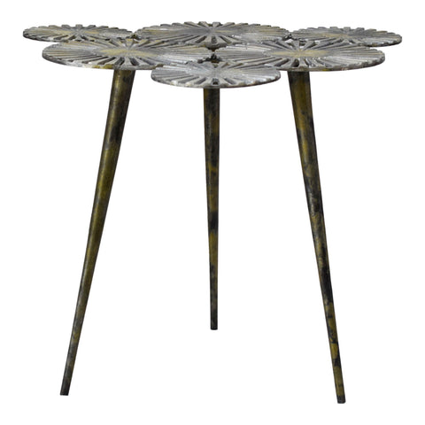 Flora Accent Table Antique Gold
