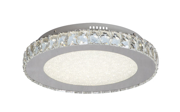 Round Clear Crystal LED Flush Mounts