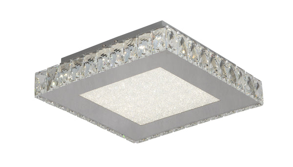 Beaded Crystal Bottom LED Flush Mounts