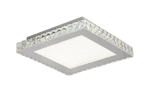 Square Clear Crystal LED Flush Mounts