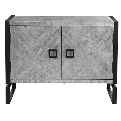 Keyes 2 Door Gray Cabinet