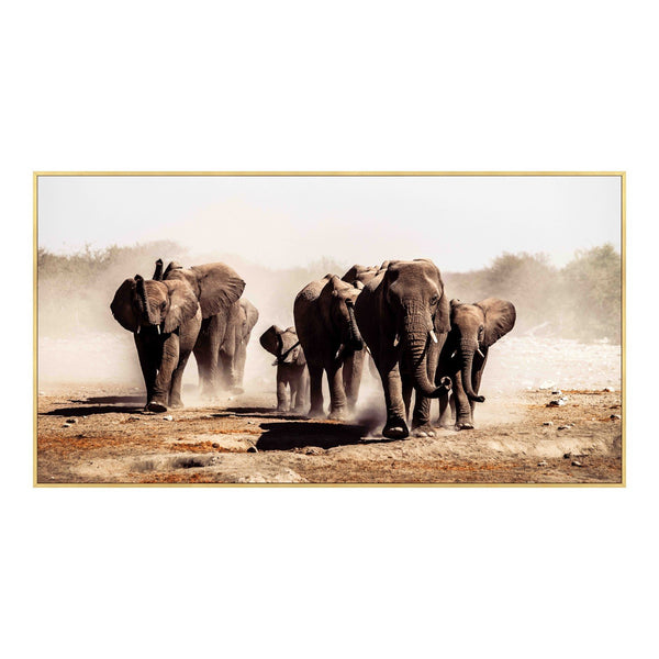 Elephant Herd Wall Decor