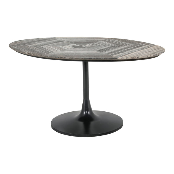 Nyles Oval Marble Dining Table