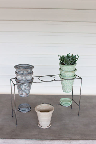 Metal French Pot Display