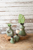 Set Of Four Celadon Lenca Vases