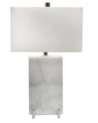 A White Shade Table Lamp