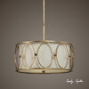 Ovala 3 Light Gold Drum Pendant