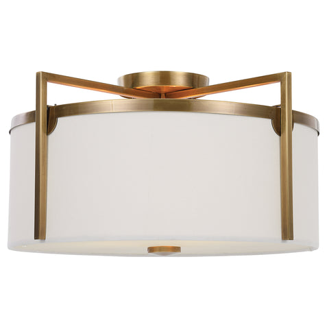 Colfax Brass 3 Light Semi Flush