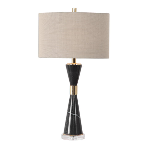 Alastair Black Marble Table Lamp
