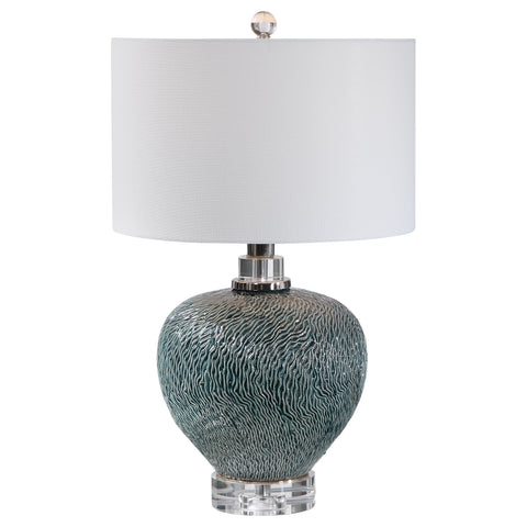 Almera Dark Teal Table Lamp