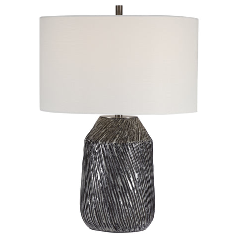 Malaya Graphic Black Table Lamp