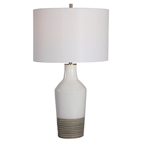 Dakota White Crackle Table Lamp