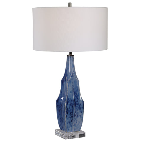 Everard Blue Table Lamp