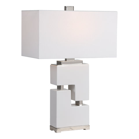 Tetris White Table Lamp