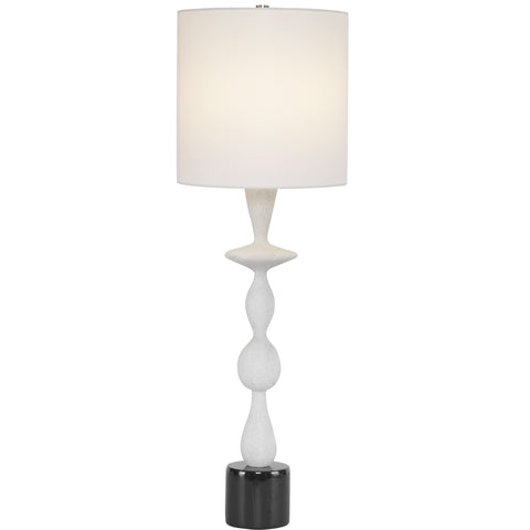 Inverse White Marble Table Lamp