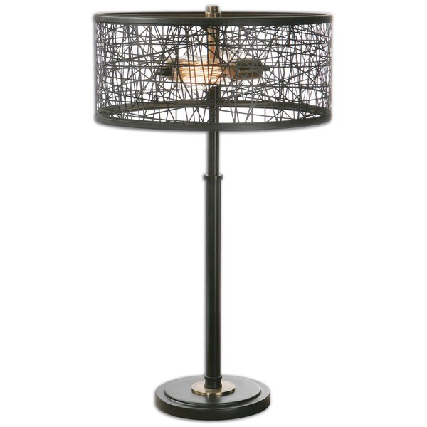Alita Black Drum Shade Lamp