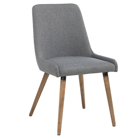 Mia Side Chair in Grey/Dark Grey, 2pk