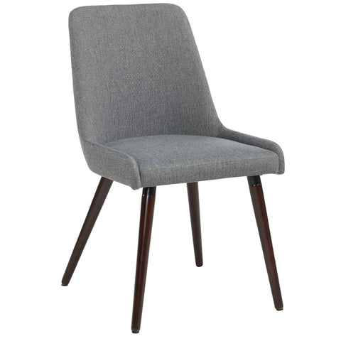 Mia Side Chair in Walnut/Dark Grey, 2pk