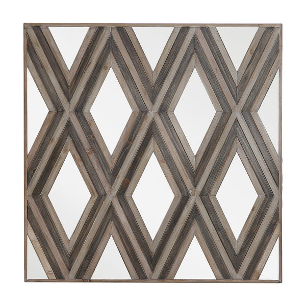 Tahira Tahira Geometric Square Wall Mirror