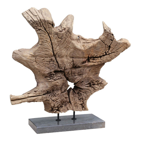 Dax Natural Teak Sculpture