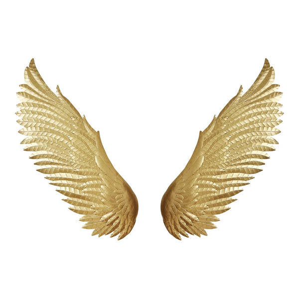 Wings Wall Decor  Gold