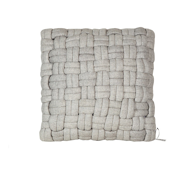 Bronya Wool Pillow Pebble Grey