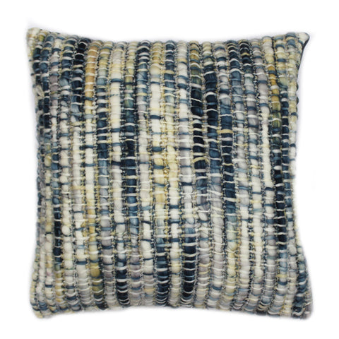 Sasha Feather Cushion Indigo 20X20
