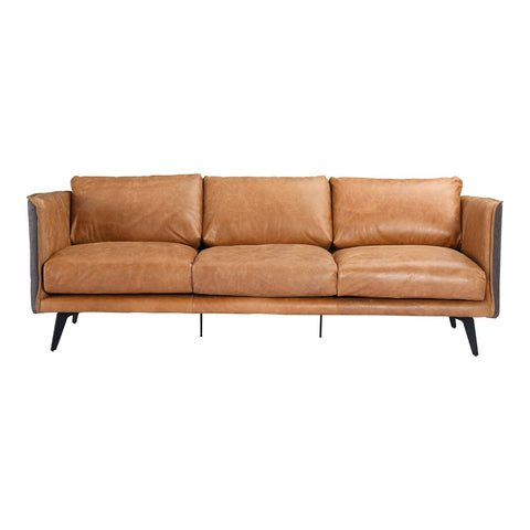 Messina Leather Sofa Cognac