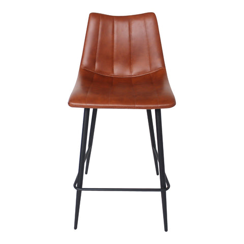 Alibi Counter Stool Brown-Set Of Two
