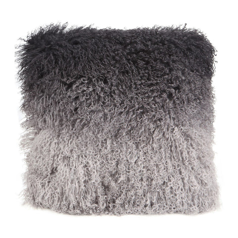 Lamb Fur Pillow Grey Spectrum