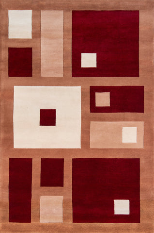 New Wave Hand Tufted Lamb's Wool Chinese Area Rug