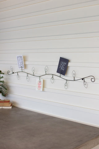 Wire Christmas Bulb Card Holder