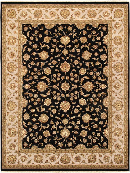 Agra Collection Hand-Knotted Silk & Wool Area Rug
