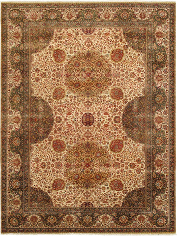Agra Collection Hand-Knotted Lamb's Wool Area Rug