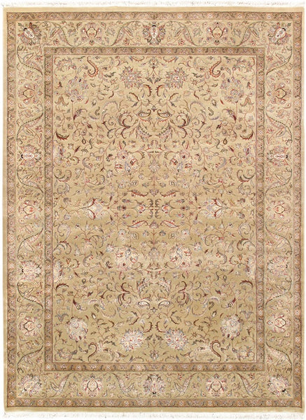 Agra Hand-Knotted Silk & Wool Area Rug