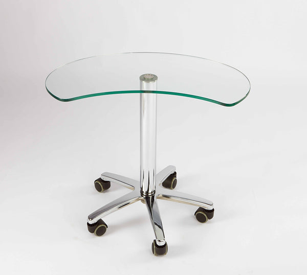 Adjustable Height Glass Table