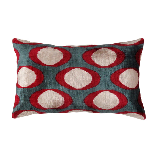 Velvet Ikat Pillow- 16