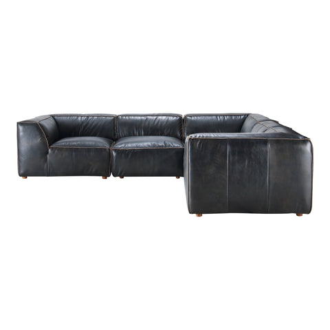 Luxe Classic L Modular Sectional Antique Black