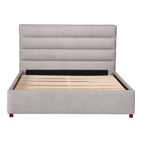 Takio Queen Bed Light Grey