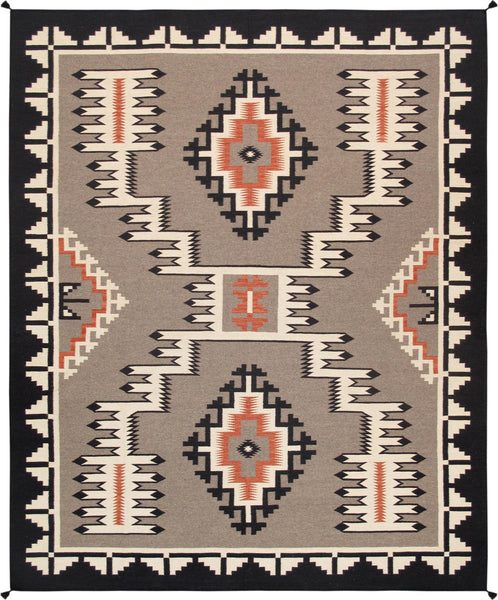 Navajo-Style Hand-Woven Wool Area Rug