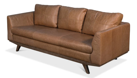 Mid Century Design Leather Sofa