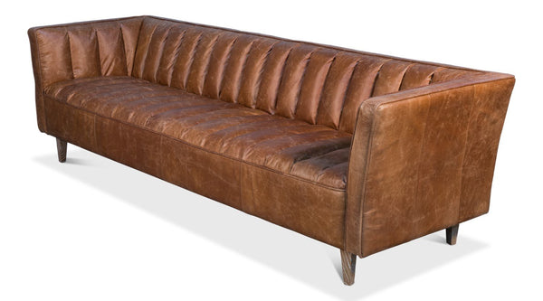 Transitional Design Leather Sofa
