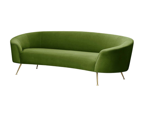 Arad Collection Velvet Sofa,Green