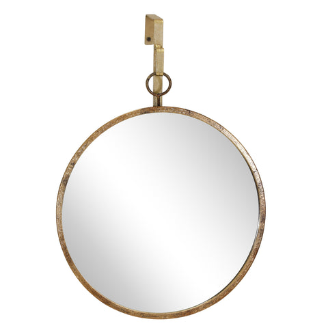 Gold Hanging Mirror, Circle
